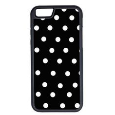 CellPowerCasesTM Black and White Polka Dots iPhone 6 (4.7) V1 Black... ($9.98) ❤ liked on Polyvore featuring accessories, tech accessories, phone cases, phone, cases, electronics and black