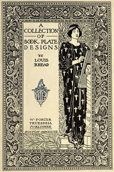 Vintage book plate design by Louis Rhead (1857–1926). (via: yama-bato:Original Source:http://www.johncoulthart.com/feuilleton/)