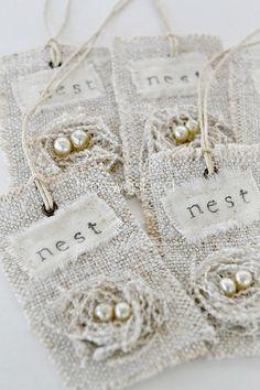 Beutiful Nest Tags by TIMEWASHED