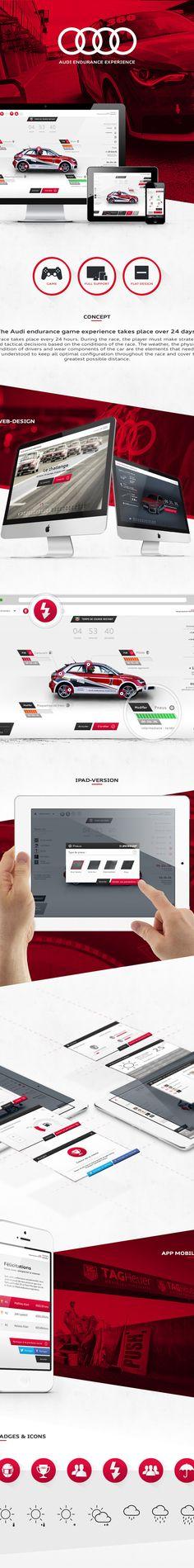 Audi Endurance Experience on Web Design Served