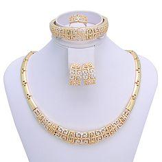 westernrain kvinnors chinoiserie vintage-inspirerad guldpläterade smycken  set – SEK Kr. 135 Halsband Set ab7a9a3d69d28