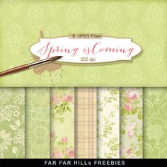New Freebies Kit of Backgrounds - Spring is Coming:Far Far Hill - Free database of digital illustrations and papers Digital Paper Freebie, Digital Scrapbook Paper, Scrapbook Cards, Digital Papers, Far Hills, Scrapbooking Freebies, Stock Image, Spring Is Coming, Flower Backgrounds