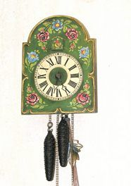 1000 images about bauernmalerei y otros on pinterest norwegian rosemaling wooden serving - Funky cuckoo clock ...