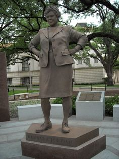 Barbara Jordan. First African American woman Elected to the House of Representatives, Statue in Austin, TX.