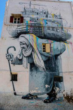 frommel: Streetart in Casablanca, Marokko