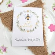 Recycled Bee Seeds Wedding Favour – Bee My Honey