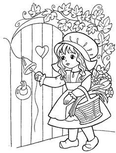 Cinderella Coloring Pages, Barbie Coloring Pages, Pattern Coloring Pages, Cute Coloring Pages, Disney Coloring Pages, Coloring Pages For Kids, Adult Coloring, Coloring Books, Paper Flowers For Kids