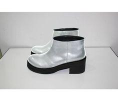 MACH & MACH Natural leather #FallWinter Silver boots   Tbilisi, Georgia Paliashvili Str 47a #machandmach #shoes