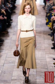 I can't stand the length of that skirt but I like the rest | Michael-Kors-Fall-2015-Collection-NYFW-Fashion-Tom-Lorenzo