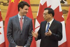 BEIJING (AP) -- Canadian Prime Minister Justin Trudeau is in China on a visit focused on trade. Trudeau was due to hold talks with Chinese Premier Li Keqiang on Monday before meeting President Xi Jinping the following day.   #Canada #China #Justin Trudeau #Li Keqiang #Ottawa #President Donald Trump #Trans-Pacific Partnership #U.S. #United States of America #Xi Jinping