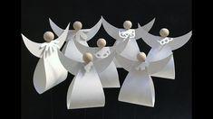 Trin for trin vejledning til fremstilling af engle i papir. På https://www.facebook.com/KreativGammelbro/ finder du et ark - lige til at klippe efter.