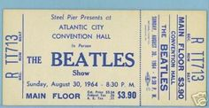 Love this vintage Beatles ticket from 1964 - wish we could have been there!