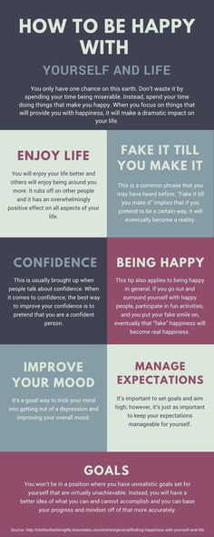 How to Be Happy With Yourself And Life - You only have one chance on this earth. Don�t waste it by spending your time being miserable. Instead, spend your time doing things that make you happy. Below, we have a few tips that you can follow to find happine