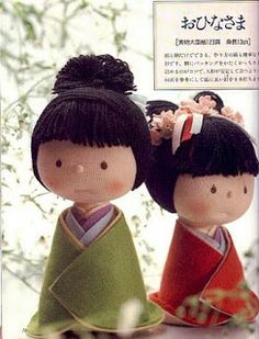 Mimin Dolls: orientais de feltro e lã