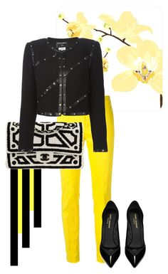 """""""Untitled #120"""" by petra-potoleczki ❤ liked on Polyvore featuring Mode, Dsquared2, Chanel, Yves Saint Laurent, women's clothing, women, female, woman, misses und juniors"""