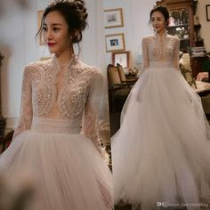 Discount New Arrival Capped Long Sleeves Tulle Luxurious Pearld Squins Beautiful Wedding Dresses Wedding Gown Custom Made Used Wedding Dresses … Western Wedding Dresses, White Wedding Gowns, Wedding Gowns With Sleeves, Used Wedding Dresses, Cheap Wedding Dress, Bridal Dresses, Beautiful Wedding Dress, Event Dresses, Beautiful Gowns