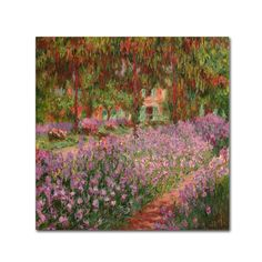 Claude Monet 'The Garden at Giverny' Canvas Art