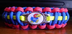 University of Kansas Jayhawks - college paracord bracelet with school colors