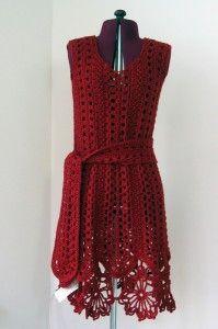 Caron Openwork Dress - roundup of 10 free crochet dress patterns for women!