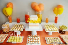Sweet Tables for Parties | bar sunflower dessert table pink cupcakes candy rocks carnival party ...