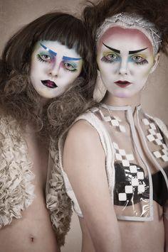 Geisha Punk by Cristina Carra Caso pasty pale avant garde makeup Japanese