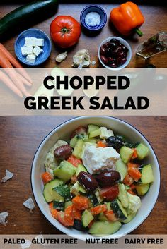Colorful, Antioxidant-rich: CHOPPED GREEK SALAD minus the carrots, of course :(