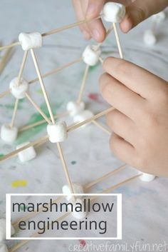 Marshmallow Engineering: a fun STEM activity using only marshmallows and toothpicks