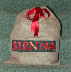 Personalised Hessian Christmas Sack - Alternative to a stocking