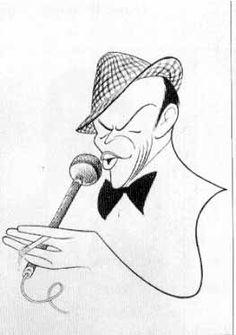Al Hirschfeld/Frank Sinatra Pop Art, Jazz, Celebrity Caricatures, Funny Caricatures, Caricature Drawing, Black And White Portraits, Painting & Drawing, Illustrators, Character Design
