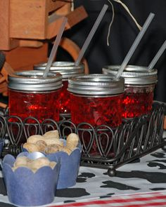 Jelly jars for drinking glasses