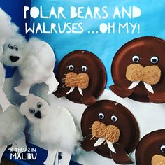 These cute polar bear and walrus crafts are part of our Polar Habitats Unit! These cute polar bear and walrus crafts are part of our Polar Habitats Unit! Winter Crafts For Toddlers, Animal Crafts For Kids, Toddler Crafts, Preschool Crafts, Bear Crafts, Fish Crafts, Arctic Decorations, Cute Polar Bear, Polar Bears