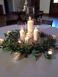 20 Romantic Wedding Centerpieces With Candles simple elegant wedding centerpiece ideas with candles Romantic Wedding Centerpieces, Winter Centerpieces, Wedding Table Centerpieces, Diy Wedding Decorations, Centerpiece Ideas, Winter Decorations, Wedding Ideas, Centerpiece Flowers, Simple Elegant Centerpieces
