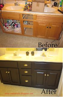 made2style} honey wood vanity + paint = brand new looking piece