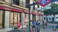 El Café Comercial, Bilbao es una estación de las líneas 1 y 4 del Metro de Madrid situada bajo la Glorieta de Bilbao en el madrileño distrito de Chamberí. (wikipedia). Madrid, España.  #callecarranza #callefuencarral #glorietadebilbao  #metrobilbao #tube #cafecomercial #madrid #españa