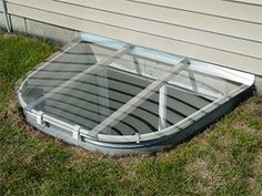 Our Sloped Style window well covers are made to shed water away from your home, and rain or a rinse with your garden hose washes the dirt and debris away, leaving them clean and clear.