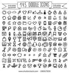 Vector Doodle Icons Universal Set Stock Vector (Royalty Free) 196917659 Discover this and millions of other royalty-free stock photos, illustrations, and vectors in the Shutterstock collection. Thousands of new, high-quality images added every day.