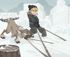 Teamwork - Kristoff and Sven by xxMeMoRiEzxx