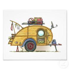 Cute RV Vintage Teardrop  Camper Travel Trailer Photograph