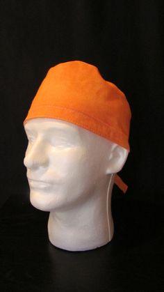 Orange Polka Dot Tie Back Surgical Scrub Hat Cap by TipTopLids on Etsy