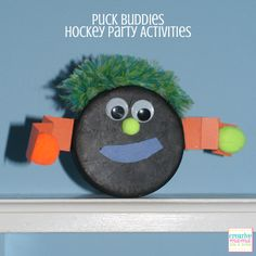 Puck Buddies - Hockey Night in Canada party activities Hockey Birthday Parties, Hockey Party, Skate Party, Birthday Fun, Birthday Activities, Party Activities, Montreal Canadiens, Canada Party, Hockey Crafts