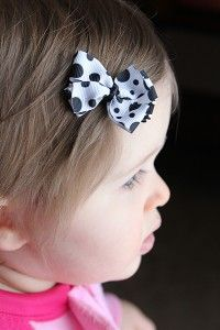 """11"""" for small bow, 15"""" for medium bow--perfect for baby hair bows"""