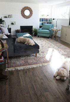 New Family Room Flooring - The Reveal - The Inspired Room