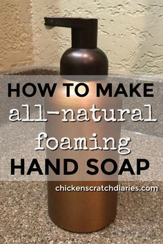 Foaming hand soap recipe with essential oils - simple to make, non-toxic and thrifty! Homemade Hand Soap, Organic Cleaning Products, Homemade Products, Diy Home Cleaning, Diy Spa, Cleaners Homemade, Soap Recipes, Essential Oils, Chicken Scratch