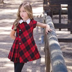 The latest news about kids fashion. Red Dresses For Kids, Kids Dress Wear, Cute Little Girl Dresses, Dresses Kids Girl, Baby Dress, Girls Christmas Outfits, Kids Outfits, Girls Fashion Clothes, Kids Fashion