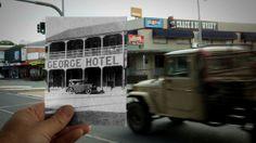 Vintage Car George Hotel  1936