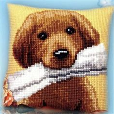 Cross Stitch Pillow Mat - Dog *options