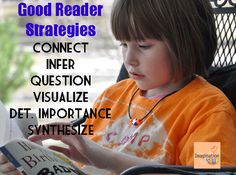 Good Reader Strategies - what your child needs to comprehend what he/she reads.
