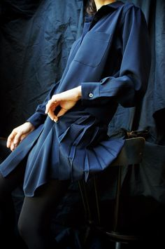 [ karatto ] BACK PLEATS SHIRT DRESS www.lancah.com