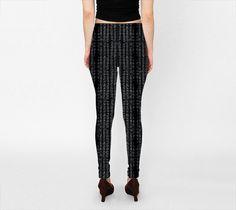 Suga Lane Grid Matrix Black Gray Leggings – ABBY ESSIE