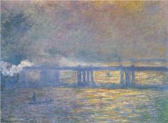 Charing Cross Bridge, 1903 by Claude Monet. Claude Monet Paintings, Art Painting, Fine Art, Poster Prints, Painting, Impressionist Paintings, Art, St Louis Art Museum, Oil Painting Reproductions